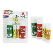 4 Kids Smiley Face Glue Sticks