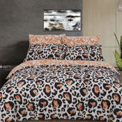 Large Leopard Print Reversible Duvet Set