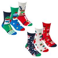 Kids 3 Pack Xmas Design Socks
