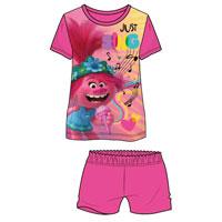 Official Girls Trolls Shortie Pyjamas 'Just Sing'