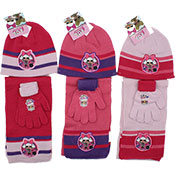 Official LOL Surprise 3 Piece Knitted Hat Glove & Scarf Set