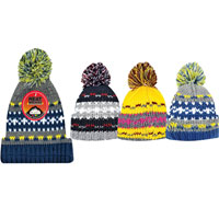 Boys Heat Machine Pom Pom Hats Multi Colours