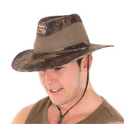 Mens Camo Fedora Hat with Air Vents