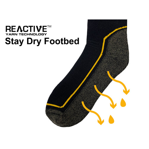 JCB 1 Pair Mens Pro Tech Welly Sock 9-12