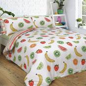 Tropical Fruits Bright Reversible Duvet Set