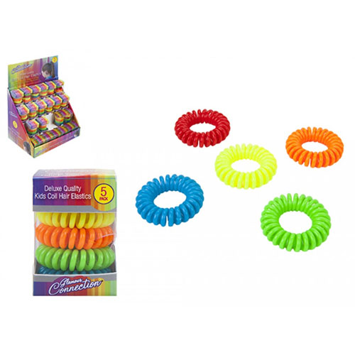 Assorted Kids Neon Colours Hair Coil Ringlets