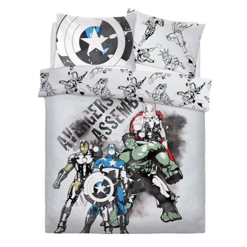 Official Marvel Watercolour Reversible Panel Duvet Set