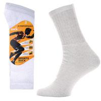 Mens Socksation Hi-Performance Sport Socks White