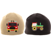 Boys Tractor/Fire Engine Ski Hat