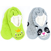 Childrens Animal Slipper Socks Frog/Raccoon