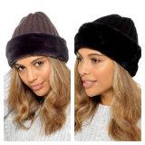 Ladies Hat With Faux Fur Trim