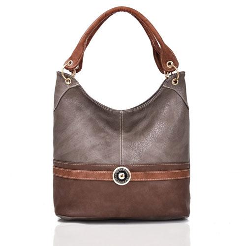 Tulisa Jewel Embelish Tote Bag Grey