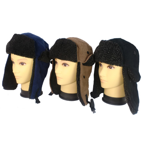Adult Fleece Trapper Hats