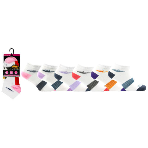Ladies ProHike 3 Pack Trainer Socks Centre Lines