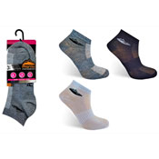 Ladies ProHike 3 pack Trainer Socks Plain