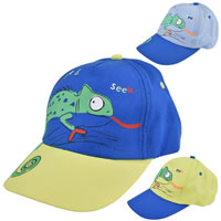 Kids Baseball Cap Lizard Design