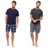 Mens Short Sleeved T-Shirt And Checked Shorts