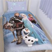 Reversible Frozen Cast Single Duvet Set