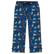 Mens Blue Marvel Comics Lounge Pants