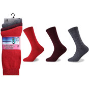 Ladies Winter Thermal Socks Fashion Colours Carton Price