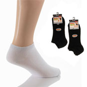 Mens Trainer Socks Big Foot Black