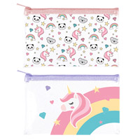 Kids Rainbow Unicorn PVC Pencil Case