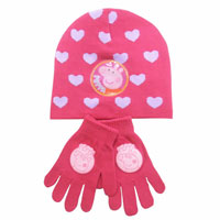 Peppa Pig Hat And Glove Set