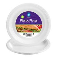 7 Pack Plastic Plates 26cm