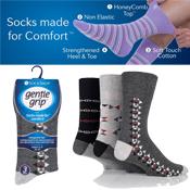 Mens Gentle Grip Socks Dark Aztec