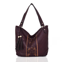 Miai Double Tassel Shopper Bag Purple
