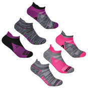 Ladies Sport Trainer Liners Socks Run/Walk Dye
