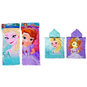 Disney Frozen & Sofia the First Towel Poncho