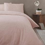 Super Soft Teddy Sherpa Duvet Set Blush Pink