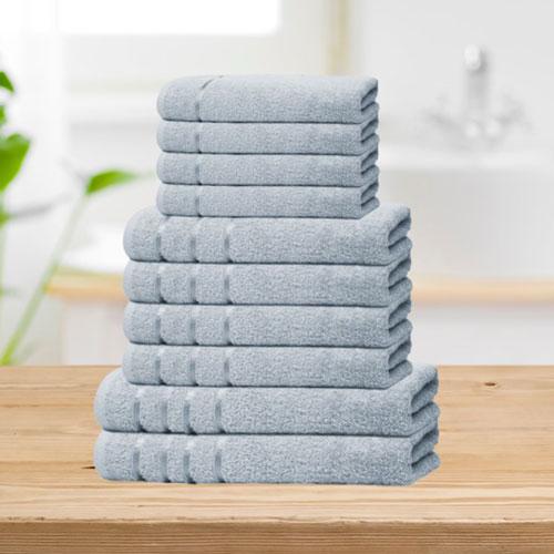 Bear & Panda 10 Piece Cotton Towel Bale Aqua