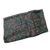 Pashmina Scarf Music Notes Red
