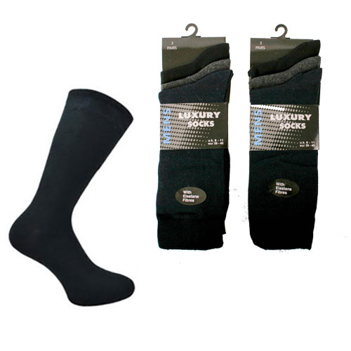 Mens Dark Assorted Luxury Socks