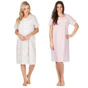 Ladies Woven Short Sleeve Nightie