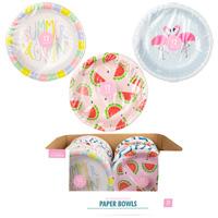 Summer Paper Bowls 12 Pack