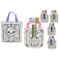 Colour Your Own Canvas Bag Girls