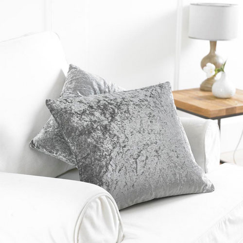 2 Silver Bliss Cushion Covers