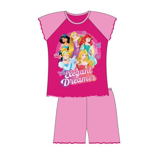 Official Girls Disney Princess Shortie Pyjamas