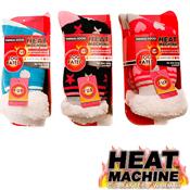 Ladies Heat Machine Hearts & Spots Thermal Socks