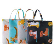Dog Print Foldaway Shopping Bag Assorted