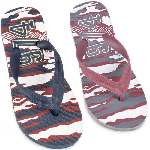 Boys Camouflage Print Flip Flops