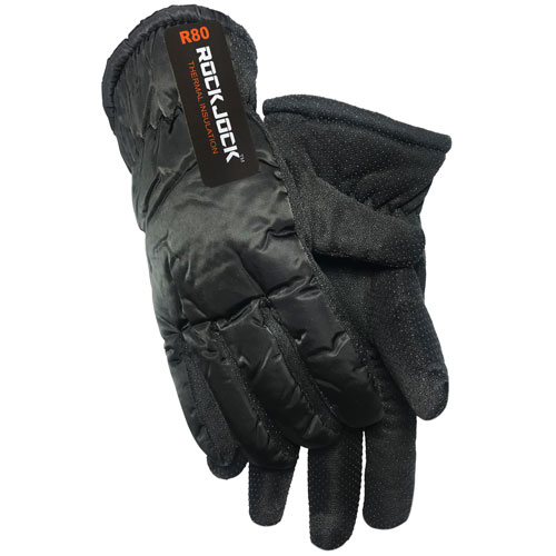 Mens Thermal Ski Glove With Gripper Palm
