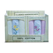 Ladies Boxed Handkerchiefs pack of 3