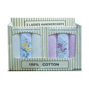 Ladies Boxed Handkerchiefs pack of 3