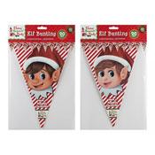 Christmas Elf Design Triangular Bunting 20ft