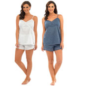 Ladies Woven Cami And Shorts