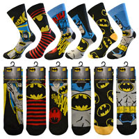 Mens Official Batman Character Socks